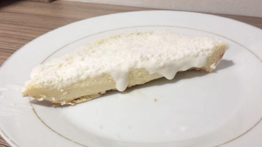 receita de sobremesa de bolo de coco com whey protein low-carb