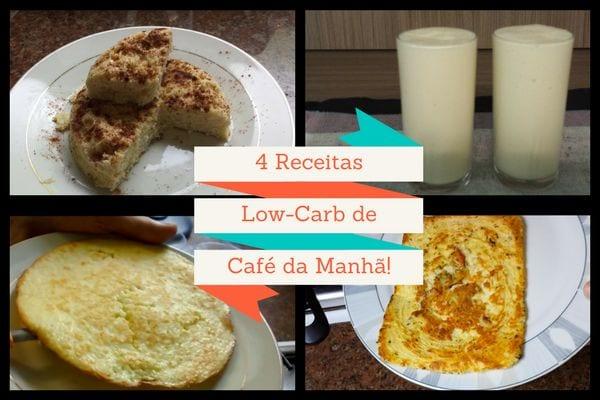 página de livro de receitas low carb em pdf 4 receitas low carb de café da manhã