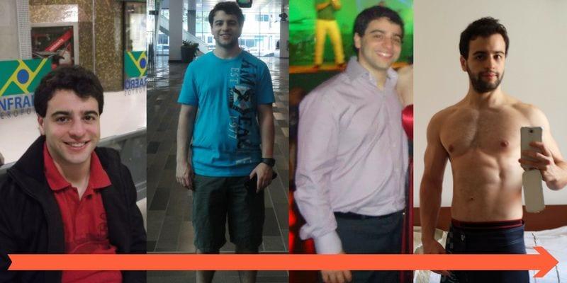 antes e depois guilherme
