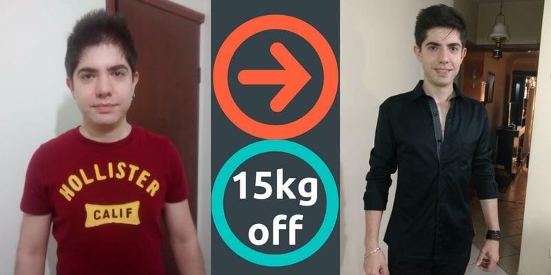 antes e depois roney
