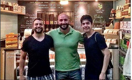 Guilherme e Roney encontram o Felipe Tuono para um cafezinho