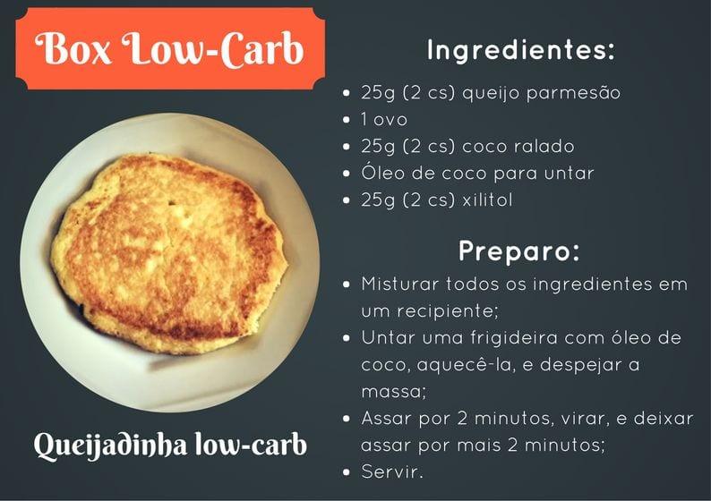 box low-carb #1 – receita queijadinha