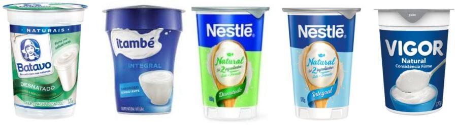prefira os iogurtes tradicionais, compostos de apenas 2 ingredientes, sejam eles integrais ou desnatados