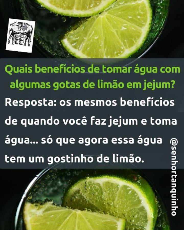 Imagem mostrando os benefícios da água com limão e contando que a água com limão não quebra o jejum