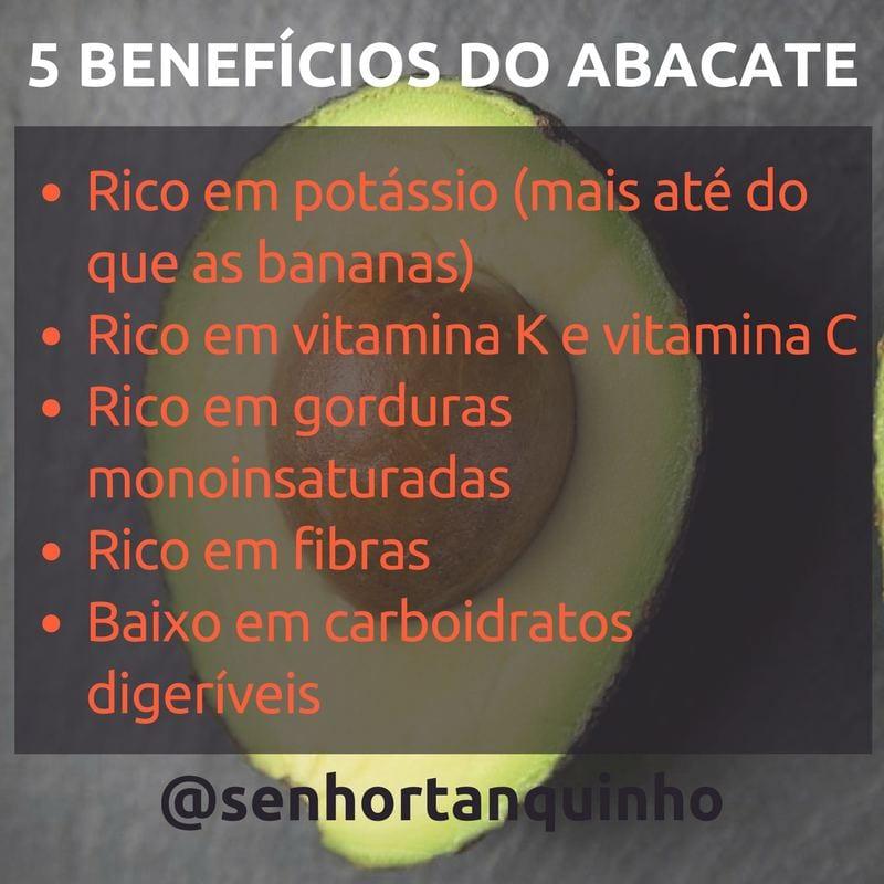 imagem mostrando os 5 benefícios do abacate