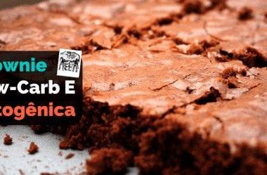 [Receita] Brownie Cetogênico E Brownie Low-Carb De Chocolate De Apenas Dois Ingredientes